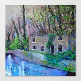 Aqueduct Cottage Canvas Print