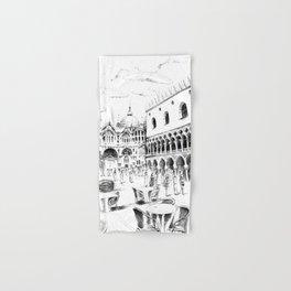 Sketch of San Marco Square in Venice Hand & Bath Towel