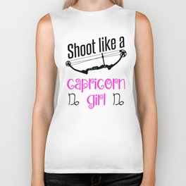 Bow Archer Archery Capricorn Zodiac Sign Biker Tank