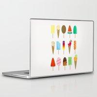 ice cream Laptop & iPad Skins featuring Ice Cream by Céline Dscps