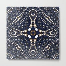 Liquid Denim Blue Metal Print