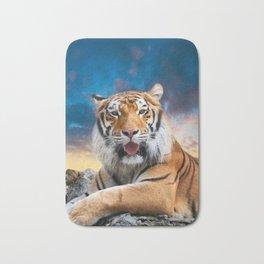 Tiger Sunset Bath Mat