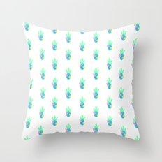 cactus - white Throw Pillow