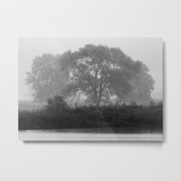 A Misty Shore Metal Print