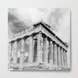 Mystical Parthenon Metal Print