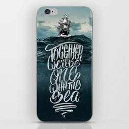 One With The Sea iPhone Skin