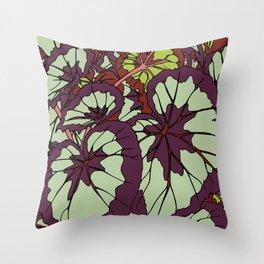 Rex Begonia Illustrated Print Throw Pillow