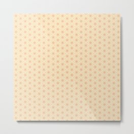 Japanese Star Pattern in Orange & Yellow Metal Print