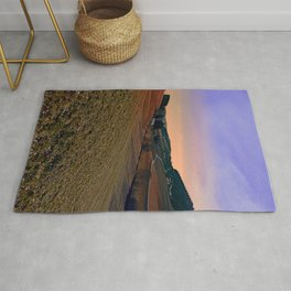 Beautiful valley scenery in the evening | landscape photography Rug