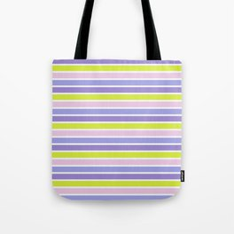 Trendy violet pink yellow modern stripes pattern Tote Bag