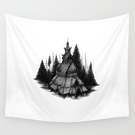 Fantoft Stave Church Wall Tapestry