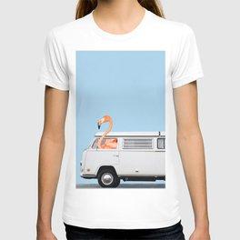 The Flamingo & His Adventure Van T-shirt