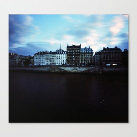 Paris at Dusk: Ile de la Cite Canvas Print