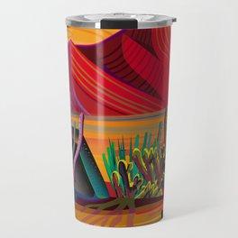 Cactus Garden Sunset Square Travel Mug