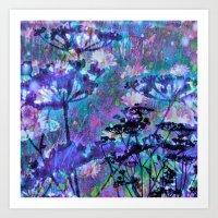 Meadow Blues Art Print
