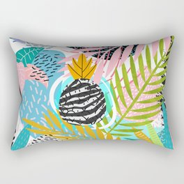 abstract palm leaves Rectangular Pillow