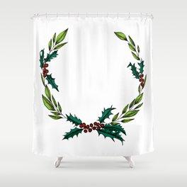 holly jolly Shower Curtain