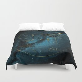 Voyager and the Golden Record - Space   Science   Sagan Duvet Cover
