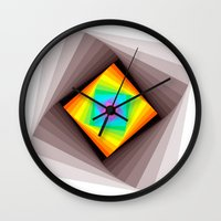 quilt Wall Clocks featuring Digital Quilt by Take F1ve