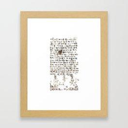 Listener Lyrics Poster Framed Art Print