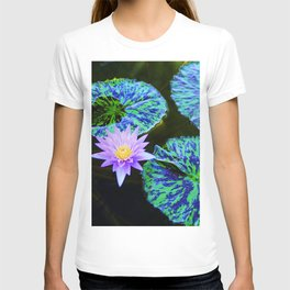 Striped Lily Pads T-shirt