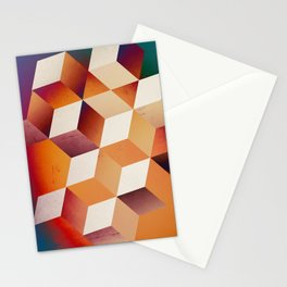 Oil Slick Cubes Stationery Cards