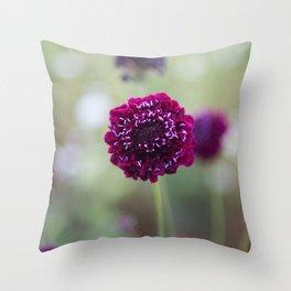 Purple Pincushion Throw Pillow