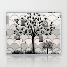 Paper landscape B&W Laptop & iPad Skin