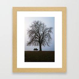 That night we sat together under a tree Framed Art Print