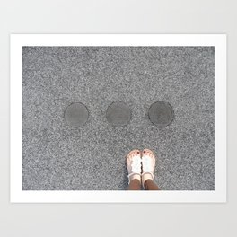 sidewalk cicrles, urban german workers art, essen Art Print