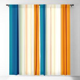 blue pink orange turquoise striped pattern Blackout Curtain