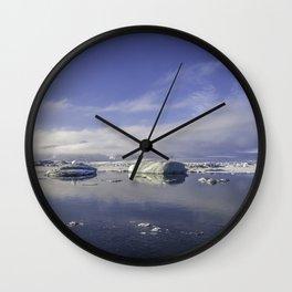 Glacial Lagoon 02 Wall Clock