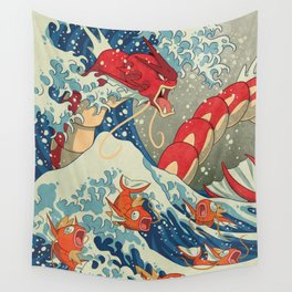 The Great Red Wave Wall Tapestry