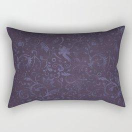 Romantic Purple Flowers Rectangular Pillow