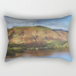 View over Derwent Water to Cat Bells. Lake District, UK. Rectangular Pillow