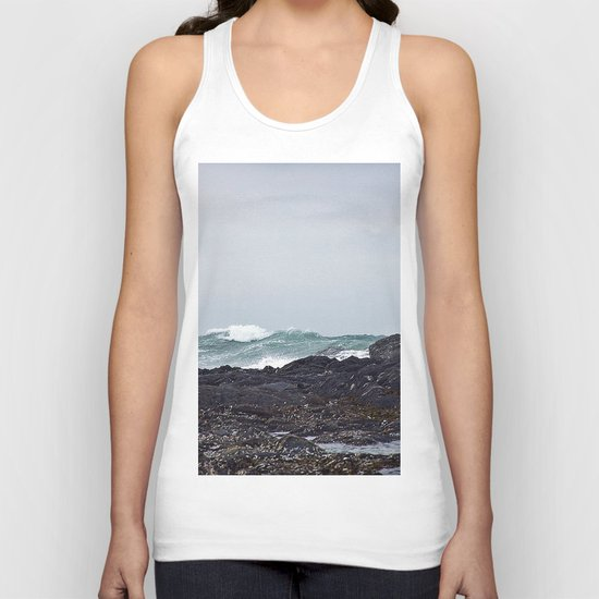 Late Winter Surf Unisex Tank Top