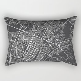Turin Map, Italy - Gray Rectangular Pillow