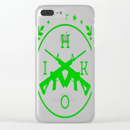 Hired-Gun-(Inverted) Clear iPhone Case
