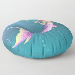 Just Under Water Floor Pillow