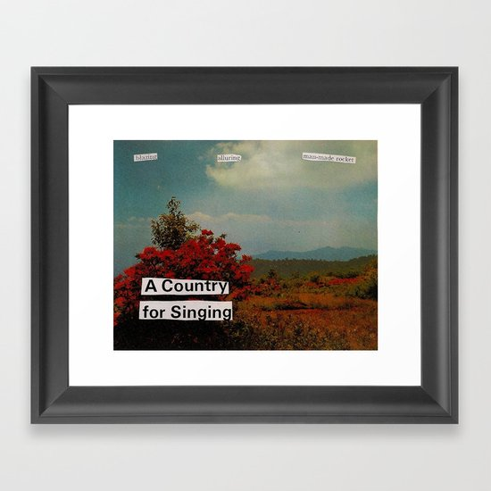 a country for singing Framed Art Print