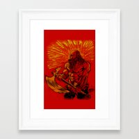 viking Framed Art Prints featuring Viking  by David Miley