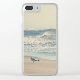 Chasing Breakfast Clear iPhone Case