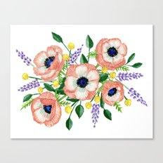 Anemone & Lavender Canvas Print