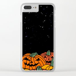 Spooky Pumpkin Patch at Halloween Clear iPhone Case