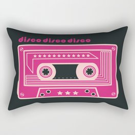 Purple Disco Music Tape Rectangular Pillow