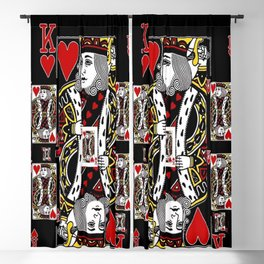 BLACK KING OF RED HEARTS CASINO CARDS Blackout Curtain