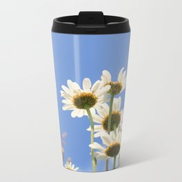 Dog Daisy Flowers Metal Travel Mug