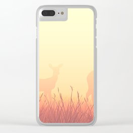 sunset in the meadow Clear iPhone Case