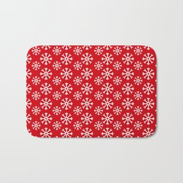 Winter Wonderland Snowflake Christmas Pattern Bath Mat
