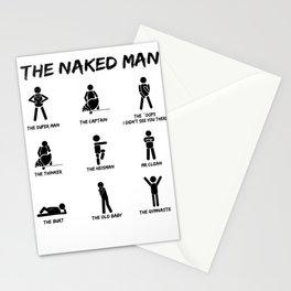 Naked man Single flirt pun joke gift Stationery Cards